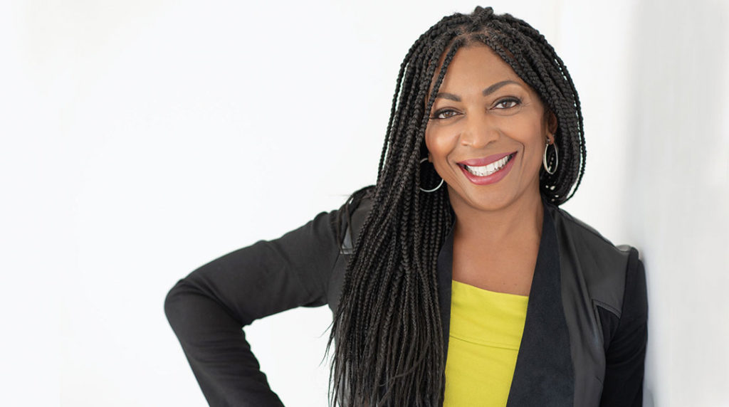 African American businesswoman headshot with personality